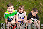 Young runners Conor Kilbridge, Jack Quinlivan and Conor Mulane pictured at the Feale Fit Annual Easter 5k run last Sunday in Abbeyfeale.