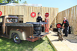 Singer-songwriter, Sarami, pictured with Colm Conyngham from Firestone and Aoife the dog, in a 1950s setting, as she arrives to rehearse for her acoustic session.<br /> <br /> The thousand campervan and music lovers that will descend on this year&rsquo;s Vantastival over the June bank holiday weekend will enjoy unplugged performances from some of the Festival&rsquo;s main line-up when the hugely successful Firestone Music Tour visits Ireland for the first time.  The Tour is hosting the acoustic stage at Vantastival, which takes place on 3rd and 4th June at Beaulieu House and Gardens, Drogheda!<br />  <br /> Pictured in rehearsal for her performance on Saturday is singer-songwriter, Saramai whose unique vocals are described as &ldquo;reminiscent of a 1920's jazz club chanteuse, and at other times, power-pop.&rdquo;  Her band&rsquo;s sound is said to have echoes of Kate Bush mixed with indie rock group, Low by way of dream pop band, Beach House.  They play the Firestone Music Station on Saturday night, 4th June.<br />  <br /> The Firestone Music Tour already features at key festivals around Europe including Primavera Sound (Barcelona), Hurricane (Hamburg), Postepay Sound Rock (Rome) and Download (Donington, England).  At Vantastival, the &lsquo;Firestone Music Station&rsquo; will feature unplugged performances from acts including Saint Sister, Jinx Lennon, Saramai, The Bonnevilles, Swords and Elm and Elephant.  A host of local acts from Drogheda and beyond will also be given the opportunity to perform.  <br />  <br /> Open mic sessions and comedy sets will also feature in the Firestone area which will have the aesthetic of a 1930s Route 66 gas station.  &ldquo;We look forward to seeing a host of talented music acts on our stage at Vantastival,&rdquo; says Colm Conyngham of Firestone Ireland, &ldquo;The Festival is  the perfect setting for Firestone to launch our Music Tour in Ireland.&rdquo;  The Firestone VW van will be the centre for competitions and giveaways with 