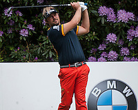 23.05.2015. Wentworth, England. BMW PGA Golf Championship. Round 3.  Victor Dubuisson [FRA] tee shot 7th hole during the third round of the 2015 BMW PGA Championship from The West Course Wentworth Golf Club