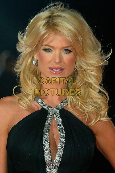 VICTORIA SILVSTEDT.World Music Awards 2006 arrrivals.Earls Court, London England,15th November 2006.headshot portrait silver black.CAP/DAR.©Darwin/Capital Pictures