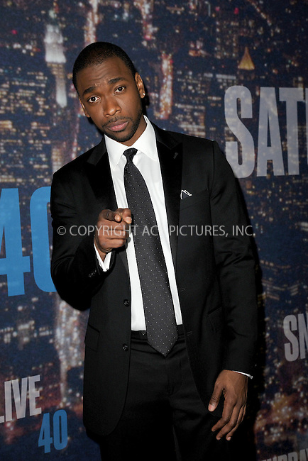 WWW.ACEPIXS.COM<br /> February 15, 2015 New York City<br /> <br /> Jay Pharoah walking the red carpet at the SNL 40th Anniversary Special at 30 Rockefeller Plaza on February 15, 2015 in New York City.<br /> <br /> Please byline: Kristin Callahan/AcePictures<br /> <br /> ACEPIXS.COM<br /> <br /> Tel: (646) 769 0430<br /> e-mail: info@acepixs.com<br /> web: http://www.acepixs.com
