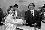 Freddie Laker launched Skytrain, the inaugural flight took place amongst much hype on 26th September 1977. This was a no frills low fare, budget daily service between London Gatwick and JFK in New York. Ann Campbell  was the first paying customer.