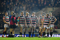 Leicester Tigers players look on during a break in play. European Rugby Champions Cup match, between Leicester Tigers and Munster Rugby on December 17, 2016 at Welford Road in Leicester, England. Photo by: Patrick Khachfe / JMP