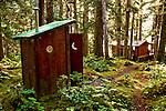 Outhouse on Shuyak Island, Alaska