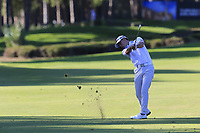 Jason Scrivener (AUS) plays his 2nd shot on the 17th hole during Friday's Round 2 of the 2018 Turkish Airlines Open hosted by Regnum Carya Golf &amp; Spa Resort, Antalya, Turkey. 2nd November 2018.<br /> Picture: Eoin Clarke | Golffile<br /> <br /> <br /> All photos usage must carry mandatory copyright credit (&copy; Golffile | Eoin Clarke)