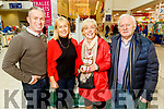 Pat and Breda O'Connor standing with Eamon and Eve McKay the Christmas Food & Craft Fair in Manor West on Saturday.