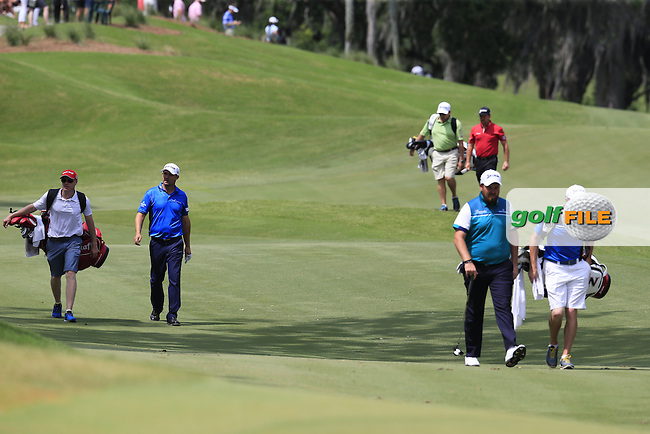 Padraig Harrington (IRL), Graeme McDowell (NIR) Shane Lowry (IRL) during practice for the Players, TPC Sawgrass, Championship Way, Ponte Vedra Beach, FL 32082, USA. 11/05/2016.<br /> Picture: Golffile | Fran Caffrey<br /> <br /> <br /> All photo usage must carry mandatory copyright credit (&copy; Golffile | Fran Caffrey)