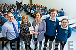 Catherine O Connor From Trinity College giving a lecture to the Mercy Mounthawk students on Thursday, calledCracking the College Code, a practical guide to your first year college.<br /> L to r: Mary O&rsquo;Connell, Pat Fleming (Deputy Principal),  Catherine O&rsquo;Connor (Trinity College), Kathleen Holmes (Parents Council, Adam Butler and Mary O&rsquo;Connell.