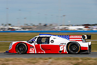 IMSA Prototype Challenge<br /> The Roar Before the Rolex 24<br /> Daytona International Speedway<br /> Daytona Beach, FL USA<br /> Friday 5 January 2018<br /> 42, Jim Garrett (M), Robby Foley III, LMP3, Ligier JS P3<br /> World Copyright: Jake Galstad<br /> LAT Images