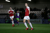 Vivianne Miedema of Arsenal scores the second goal for her team and celebrates during Arsenal Women vs Bristol City Women, FA Women's Super League Football at Meadow Park on 14th March 2019