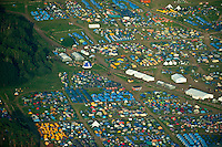 Aerial View from the spring subcamp at the World Scout Jamboree 2011. (Patrik Tanner / TPA Images)