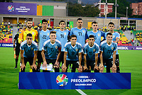 BUCARAMANGA – COLOMBIA, 03-02-2020: Argentina U-23 y Uruguay U-23 en partido del cuadrangular final del CONMEBOL Preolímpico Colombia 2020 jugado en el estadio Alfonso Lopez de Bucaramanga, Colombia. / Argentina U-23 and Uruguay U-23 in match of for the final quadrangular as part of CONMEBOL Pre-Olympic Tournament Colombia 2020 played at Alfonso Lopez stadium in Bucarmanga, Colombia. Photo: VizzorImage / Julian Medina / Cont