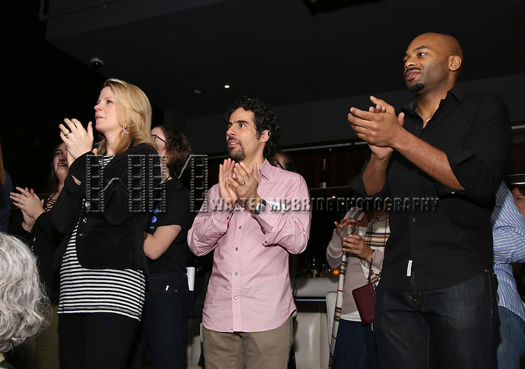 Kelli O'Hara, Alex Lacamoire and Brandon Victor Dixon attend the 5th Annual Paul Rudd All-Star Bowling Benefit for (SAY) at Lucky Strike Lanes on February 13, 2017 in New York City.