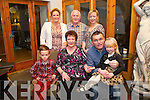 Nathan Ahern, Betty Horgan, Niall Donovan, Carrie Ann Ahern, Veronica Donovan, Pat Horgan, Sandra Ahern, from Lixnaw enjoying a Horgan family gathering at Belle Bia on Saturday