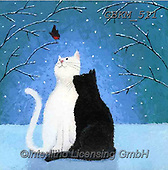 Kate, CHRISTMAS ANIMALS, WEIHNACHTEN TIERE, NAVIDAD ANIMALES, paintings+++++Christmas page 4 1,GBKM511,#xa# ,cat,cats