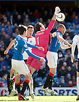 Jamie MacDonald saves from Kenny Miller