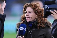 VOETBAL: ABE LENSTRA STADION: HEERENVEEN: 30-10-2013, Bekerwedstrijd SC Heerenveen - VVV Venlo uitslag 1- 0, Fox tv Barbara Barend, ©foto Martin de Jong