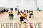 Exhibition game by the Kerry Wheel Blasters basketball at the Kerry Sports Academy Open Day at the I T Tralee on Saturday.