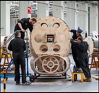 BNPS.co.uk (01202 558833)<br /> Pic: PhilYeomans/BNPS<br /> <br /> Super-sized Typhoon heading for Dorset...<br /> <br /> Apprentices working for QinetiQ at Boscome Down in Wiltshire are constructing a super-sized model of the Hawker Typhoon to celebrate 75th anniversary of the Battle of Normandy.<br /> <br /> The huge 4x scale model of the rocket carrying fighter will be placed on a hillside overlooking the Chalke Valley History Festival that opens next week. <br /> <br /> The fighter bomber known as 'Tiffy' by its pilots played a key role attacking German troops, tanks and trains during the battle for Normandy, disrupting Nazi attempts to resupply their beleagured forces. <br /> <br /> There are no airworthy Typhoon's still flying today, although the Typhoon Preservation Trust has plans to restore one to flying condition by 2020.