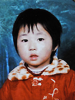 Li Shuting (4), born in Apr 2001. Missing at Shi Min Village in Shunhe County on 18 Oct 2005.   Girls in China are increasingly targeted and stolen as there is a shortage of wives as the gender imbalance widens with 120 boys for every 100 girls..PHOTO BY SINOPIX