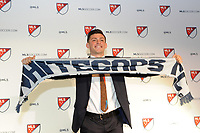 Philadelphia, PA - Thursday January 19, 2018: Lucas Stauffer during the 2018 MLS SuperDraft at the Pennsylvania Convention Center.