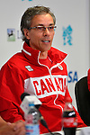 LONDON, ENGLAND 28/08/2012 -  Gaetan Tardif, Chef de Mission,  speaks at the Team Canada Preview Press Conference at the London 2012 Paralympic Games at The Main Press Centre. (Photo: Phillip MacCallum/Canadian Paralympic Committee)
