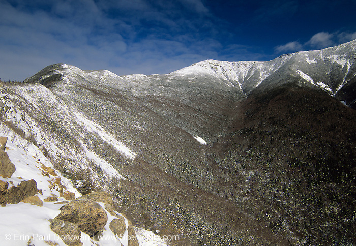 Scenic view of Franconia Ridge from Old Bridal Path in the White Mountain National Forest of New Hampshire.
