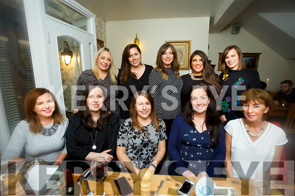 Friends enjoying a night out at Bella Bia's on Saturday front l-r Aisling Foley, Karen Hayles, Caitriona  Dowling, Ciara Hickey, Ann O'Sullivan Back l-r Sinead Coffey, Caroline Ring, Grainne Kelly, Mary McQuinn, Aoife Costello