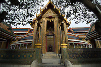Wat Ratchaphobit is off the normal tourist trail in Bangkok and is therefore almost always tranquil, giving it a contemplative atmosphere. It was begun only in 1864 and is an amalgam of Eastern and Western influences.