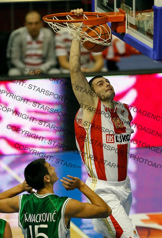 Kosarka, ABA League, sezona 2011/2012.Crvena Zvezda Vs. Zlatorog Lasko.Sava Lesic.Belgrade, 29.10.2011..foto: Srdjan Stevanovic/Starsportphoto ©