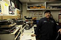 (171115RREI1225) Wilson, owner of auto mechanic shop. La Esquina, Mt. Pleasant, Washington DC.  Nov. 15 ,2017 . ©  Rick Reinhard  2017     email   rick@rickreinhard.com