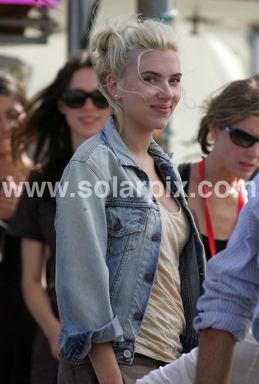 **ALL ROUND PICTURES FROM SOLARPIX.COM**.**WORLDWIDE SYNDICATION RIGHTS**.Woody Allen and Scarlett Johansson on set in Barcelona filming Woody Allen's latest feature 'Midnight in Barcelona' - 9th July 2007..This pic: Scarlett Johansson..JOB REF:    4303   MER        DATE: 17_07_2007.**MUST CREDIT SOLARPIX.COM OR DOUBLE FEE WILL BE CHARGED* *UNDER NO CIRCUMSTANCES IS THIS IMAGE TO BE REPRODUCED FOR ANY ONLINE EDITION WITHOUT PRIOR PERMISSION*