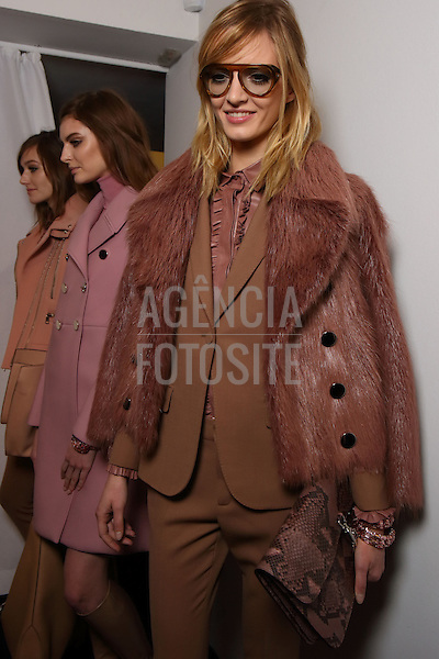Milao, Italia &ndash; 02/2014 - Desfile de Gucci durante a Semana de moda de Milao - Inverno 2014. <br /> Foto: FOTOSITE
