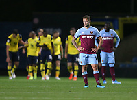 Dejection for Jack Wilshere and West Ham United after an Oxford goal<br /> <br /> Photographer Rob Newell/CameraSport<br /> <br /> The Carabao Cup Third Round - Oxford United v West Ham United - Wednesday 25th September 2019 - Kassam Stadium - Oxford<br />  <br /> World Copyright © 2019 CameraSport. All rights reserved. 43 Linden Ave. Countesthorpe. Leicester. England. LE8 5PG - Tel: +44 (0) 116 277 4147 - admin@camerasport.com - www.camerasport.com