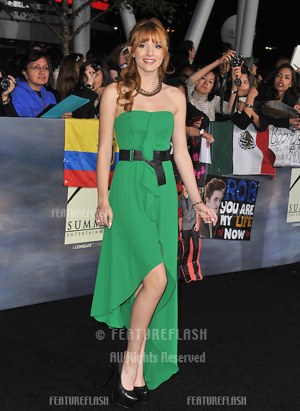 """Bella Thorne at the world premiere of """"The Twilight Saga: Breaking Dawn - Part 2"""" at the Nokia Theatre LA Live..November 12, 2012  Los Angeles, CA.Picture: Paul Smith / Featureflash"""