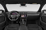 Stock photo of straight dashboard view of 2020 Skoda Superb-Combi Sportline-4wd 5 Door Wagon Dashboard