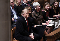 United States President Donald J. Trump and first lady Melania Trump attend the Christmas Eve service at the Washington National Cathedral in Washington, D.C on December 24, 2018. Photo Credit: Olivier Douliery/CNP/AdMedia