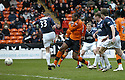 23/02/2008    Copyright Pic: James Stewart.File Name : sct_jspa20_dundeee_utd_v_falkirk.MARK DE VRIES SLOTS THE BALL WIDE FROM CLOSE RANGE.James Stewart Photo Agency 19 Carronlea Drive, Falkirk. FK2 8DN      Vat Reg No. 607 6932 25.Studio      : +44 (0)1324 611191 .Mobile      : +44 (0)7721 416997.E-mail  :  jim@jspa.co.uk.If you require further information then contact Jim Stewart on any of the numbers above........