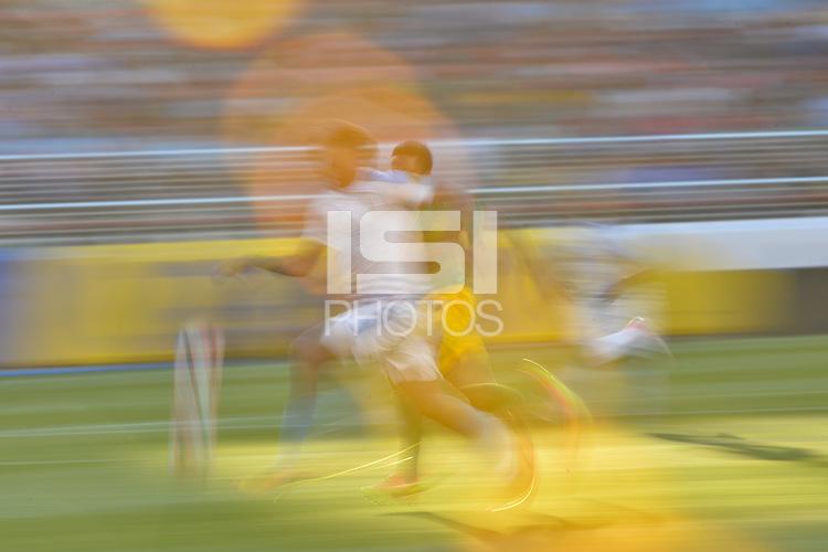 Santa Clara, CA - Monday June 13, 2016: Uruguay , Jamaica  during a Copa America Centenario Group C match between Uruguay (URU) and Jamaica (JAM) at Levi's Stadium.
