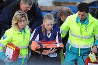 FIERLJEPPEN: BURGUM: 01-06-2013, Accommodatie Fierljepvereniging Burgum, Dames 1e klasse, Marrit van der Wal, ©foto Martin de Jong