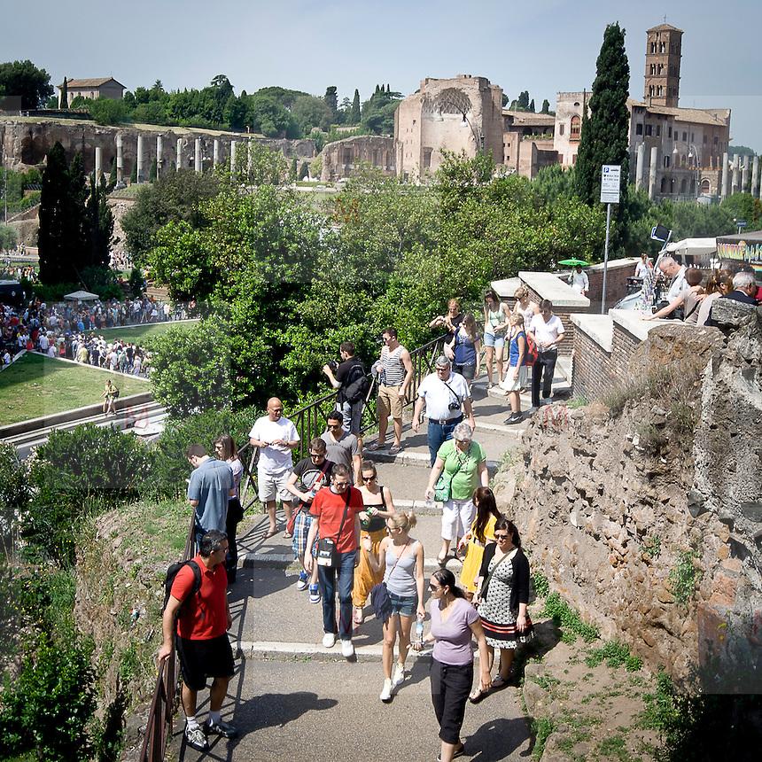 Turisti a Roma<br /> Tourists in Rome