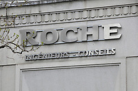 April 2012 File Photo - Montreal (Qc) CANADA -   Roche Ingenieurs - Conseils firm  logo on the Montreal headquarter
