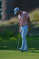 Paul Casey (GBR) reacts to missing his birdie attempt on 1 during round 4 of the WGC FedEx St. Jude Invitational, TPC Southwind, Memphis, Tennessee, USA. 7/28/2019.<br /> Picture Ken Murray / Golffile.ie<br /> <br /> All photo usage must carry mandatory copyright credit (© Golffile | Ken Murray)