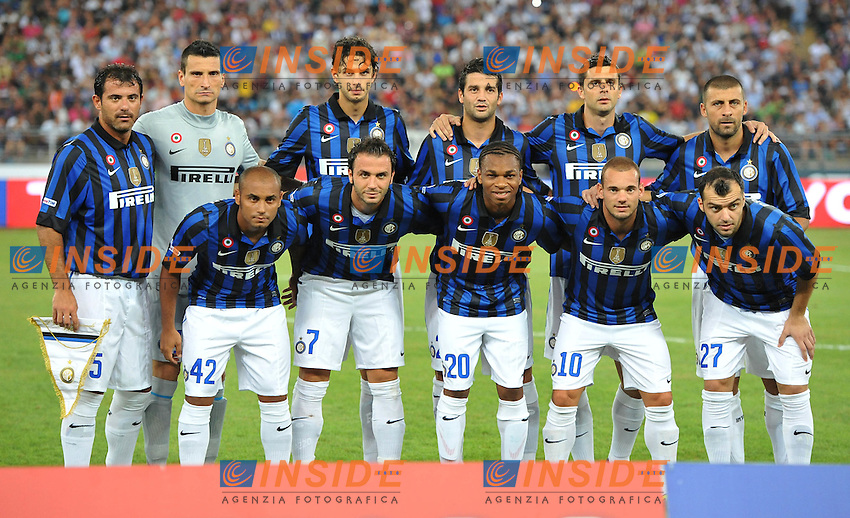 "Formazione (Inter ).Bari 18/8/2011 Stadio ""San Nicola"".Trofeo TIM.Football Calcio Inter Vs Juventus Vs Milan.Foto Insidefoto Alessandro Sabattini..."