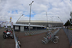 The Hague, Netherlands, June 14: View of the entrance area of the Kyocera Stadium with the parking area for bicycles on June 14, 2014 during the World Cup 2014 at Kyocera Stadium in The Hague, Netherlands. (Photo by Dirk Markgraf / www.265-images.com) *** Local caption ***