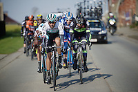 Kristian House (GBR/ONE) leading the way<br /> <br /> 71st Omloop Het Nieuwsblad 2016