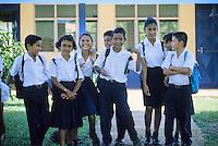 School Children, Los Chiles, Northern Lowlands, Costa Rica