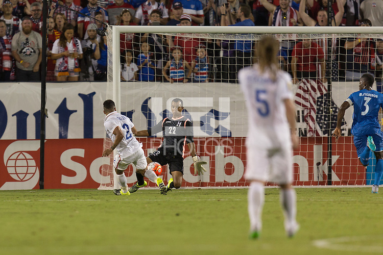 Frisco, TX. - Tuesday, July 7, 2015: The US Men's National team defeat Honduras 2-1 to begin group play in the 2015 Gold Cup at Toyota stadium.