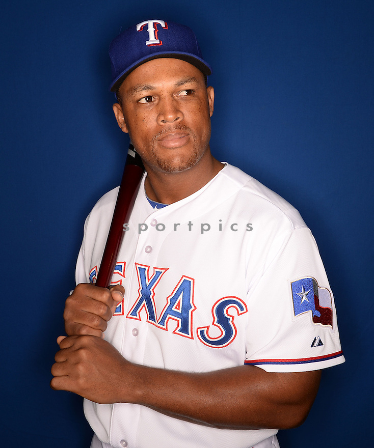 Texas Rangers Adrian Beltre (29) at media photo day during spring training on February 25, 2014 in Surprise, AZ