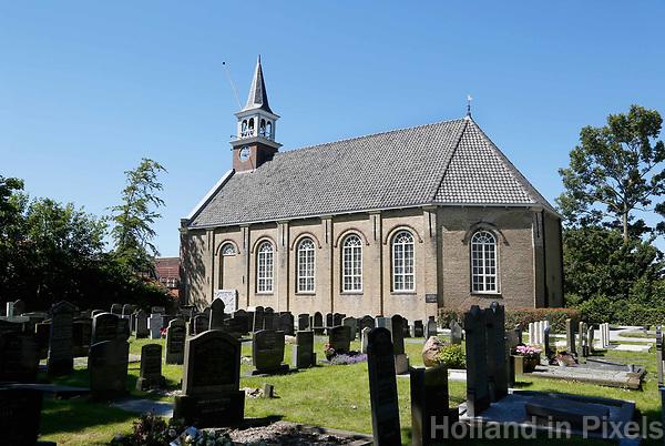 Nederland Stavoren- 2017.  Begraafplaats bij de Nicolaaskerk.   Foto Berlinda van Dam / Hollandse Hoogte